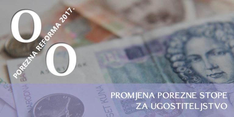 VAŽNA OBAVIJEST – Reforma poreznog sustava