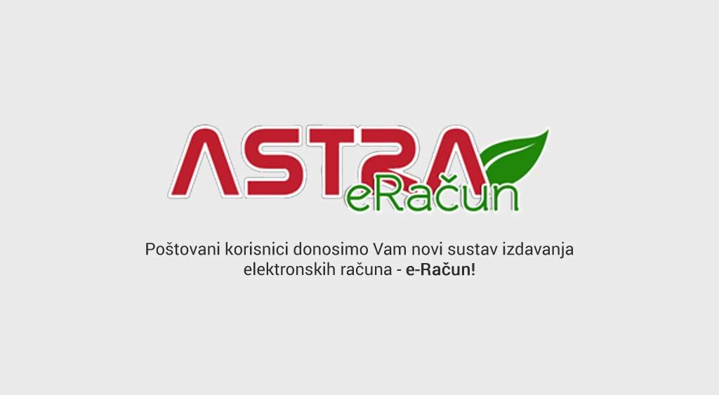 Novi modul Astre – eRačun!