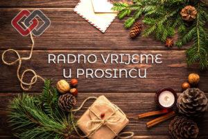 Read more about the article Obavijest korisnicima: Radno vrijeme u prosincu
