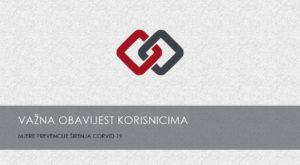 Read more about the article VAŽNA OBAVIJEST: Rad po posebnom programu – mjere prevencije širenja COVID-19